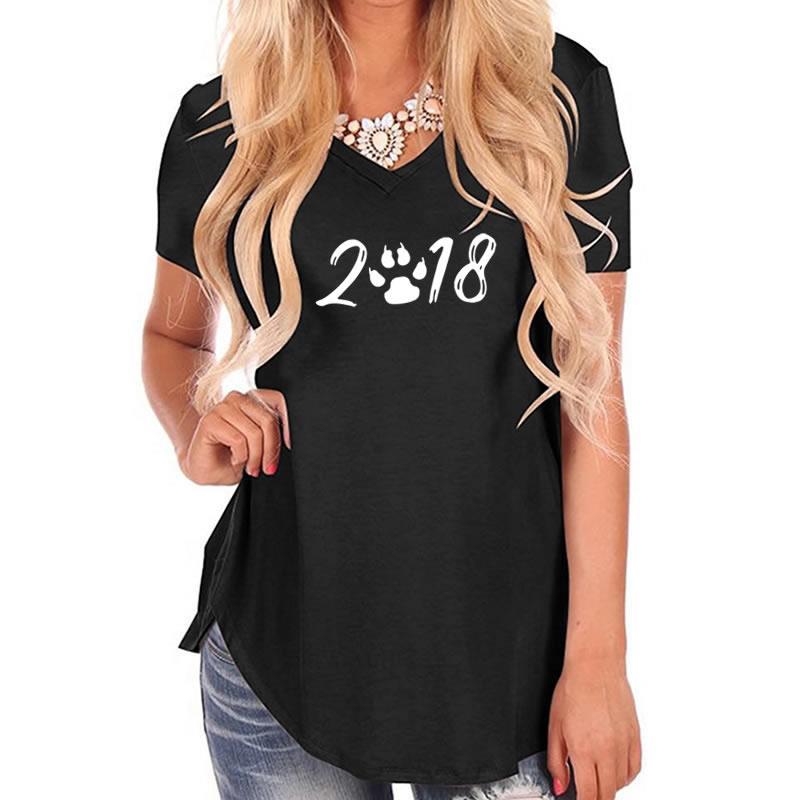 2018 новый номер Мода футболка с принтом женские Для женщин футболка Панк Плюс Размеры топы Симпатичные рок Wonder Woman