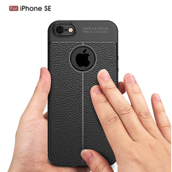 For iPhone 5S Case iPhone Se Cover Vpower Lichee Pattern Shock Proof Soft TPU Cases For Apple iPhone 5 5S Se Phone Back Covers 2