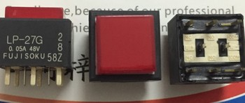 [VK]JAPAN FUJISOKU LP-27G square light touch switch 15*15mm with a self-locking button red LED 8 pin LP1S-27G-229-Z 0.05A 48V