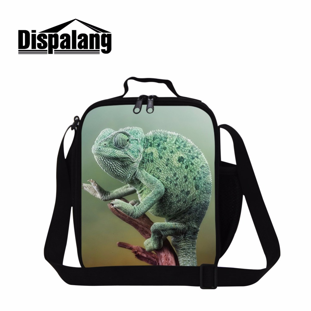 Dispalang Animal Lunch Bag For Kids Food Storage Cooler Bag Sac Isotherme Lunch Box For Boys Novelty Lizard Mens Thermo Bag