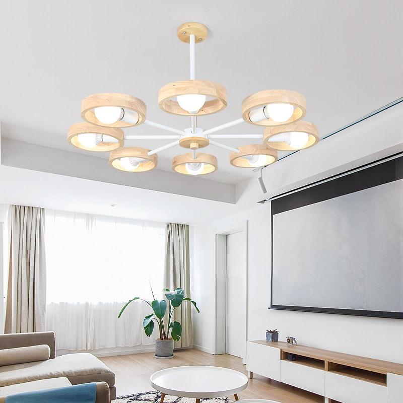 Kreative Design Kunst Anhänger Licht Holz Rahmen wohnzimmer macarons anhänger lampen schwarz weiß lampe körper schlafzimmer leuchte-in Pendelleuchten aus Licht & Beleuchtung bei title=