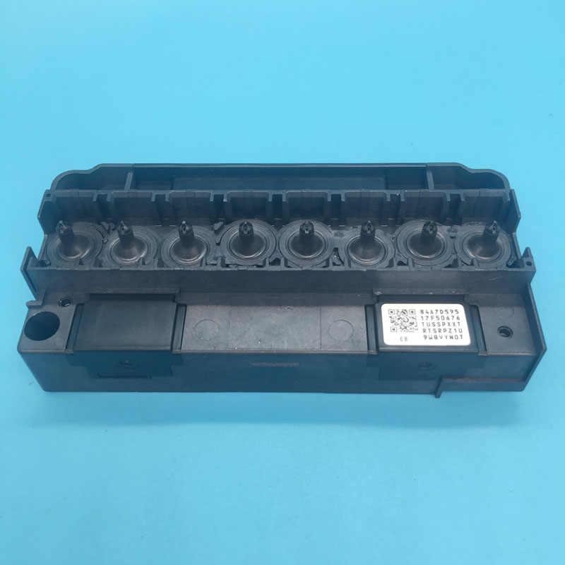 100% Asli DX5 Pelarut Printhead Manifold Adaptor untuk Epson R1900 R2880 R2000 Mutoh Mimaki Xuli Pelarut Print Head Cover