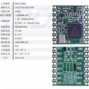 Image 3 - 100 個 RFM95 RFM95W 868MHZ 915MHZ LORA SX1276 無線トランシーバモジュール最高品質在庫工場卸売