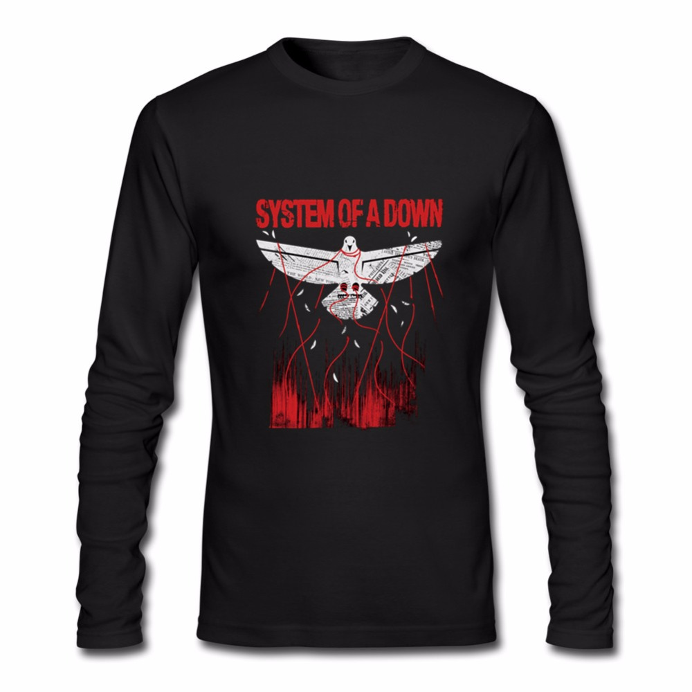2018 system of a down long sleeve t shirt for Men's SOAD mulheres top t-shirt male Rock Band Music DJ tshirt undertale juventus