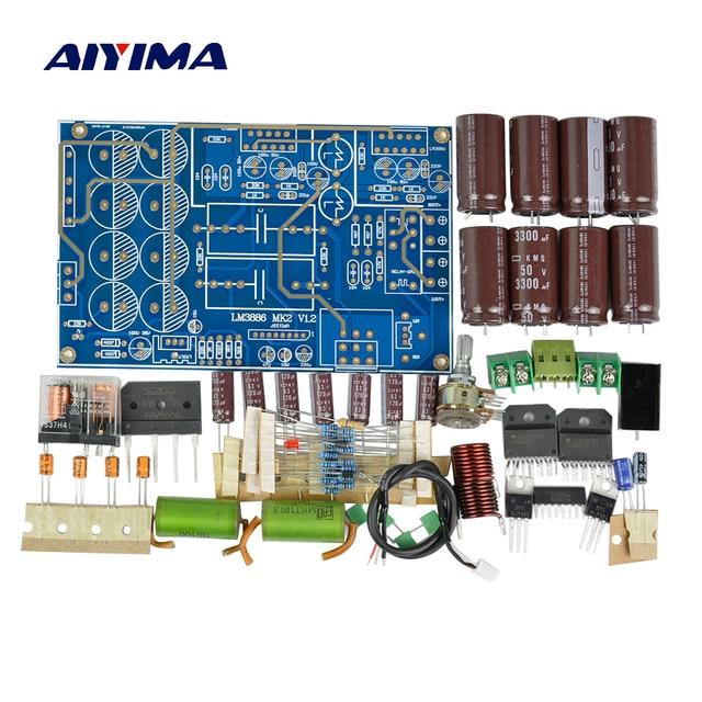 Aiyima LM3886 パワーアンプオーディオボード 2.0 チャンネルトップコンポーネントコレクターアンプボード diy キット 68Wx2
