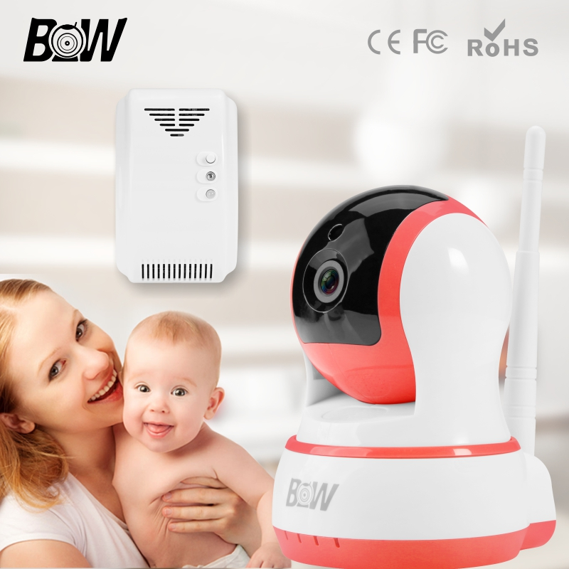 ФОТО BW Onvif HD 720P Mini WiFi Security System Wireless IP Camera Network CMOS Automatic Sensor Alarm Indoor Surveillance Camera