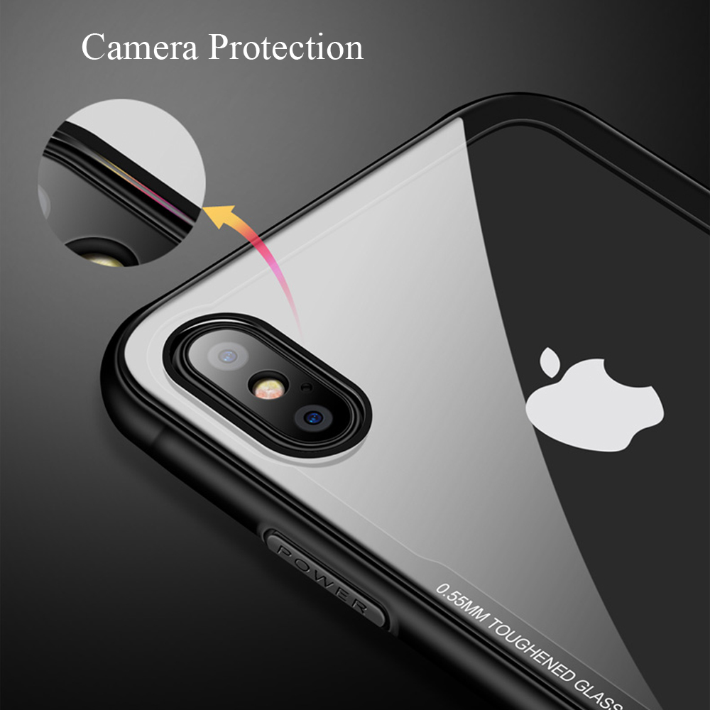 CASEIER Tempered Glass Phone Case For iPhone 11 Pro Max Cases For iPhone X XS Max XR 7 8 6 6s Plus Case Funda Cover Accessories