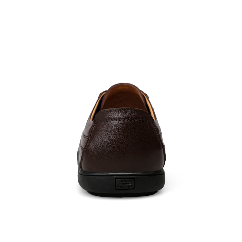 Dropshipping glissement Cuir Hommes En Non Chaussures marron Main Véritable brown Conduite Mocassins mesh mesh Soft Automne black Casual Noir Design gvO5wtq
