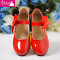 US1-13.5 Gluing Girls' Shoes Princess Shoes, Red Ribbon Dress Shoes, Birthday Dance Shoes, Free Shipping