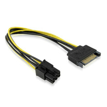 1pc 20cm 15Pin-6Pin Power Cords Cable DC Mining Machine Extension Graphics Card Reverse Adapter Cables for PC Computer Drop sale