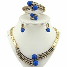 Африканские свадебные ювелирные наборы африканские большие женские ожерелья ювелирные изделия, Африканский бисер индийские модные ювелирные изделия золотые украшения