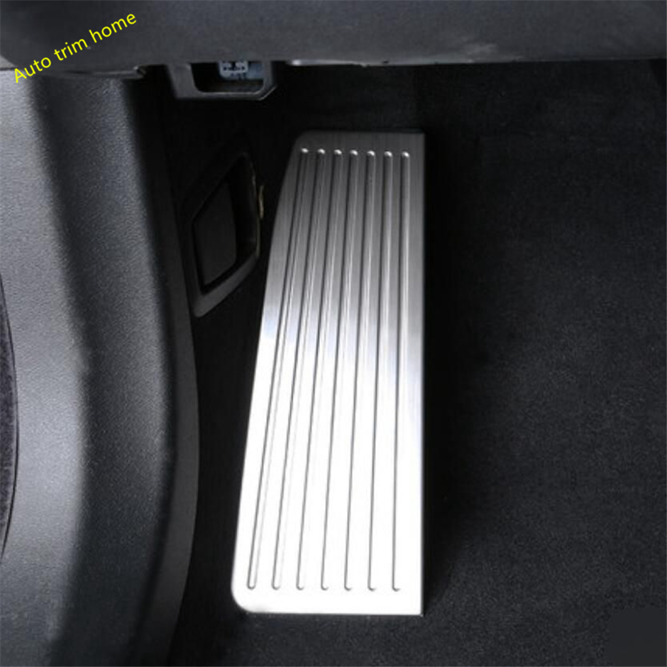 Lapetus Footboard Pedal Foot Rest Plate Footrest Cover Trim 1 Piece Fit For <font><b>VOLVO</b></font> <font><b>XC60</b></font> 2018 <font><b>2019</b></font> 2020 Stainless Steel image