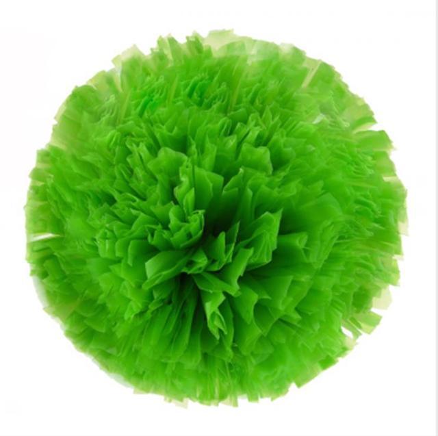 Green Small cheer pom poms 5c64fbbde3f95