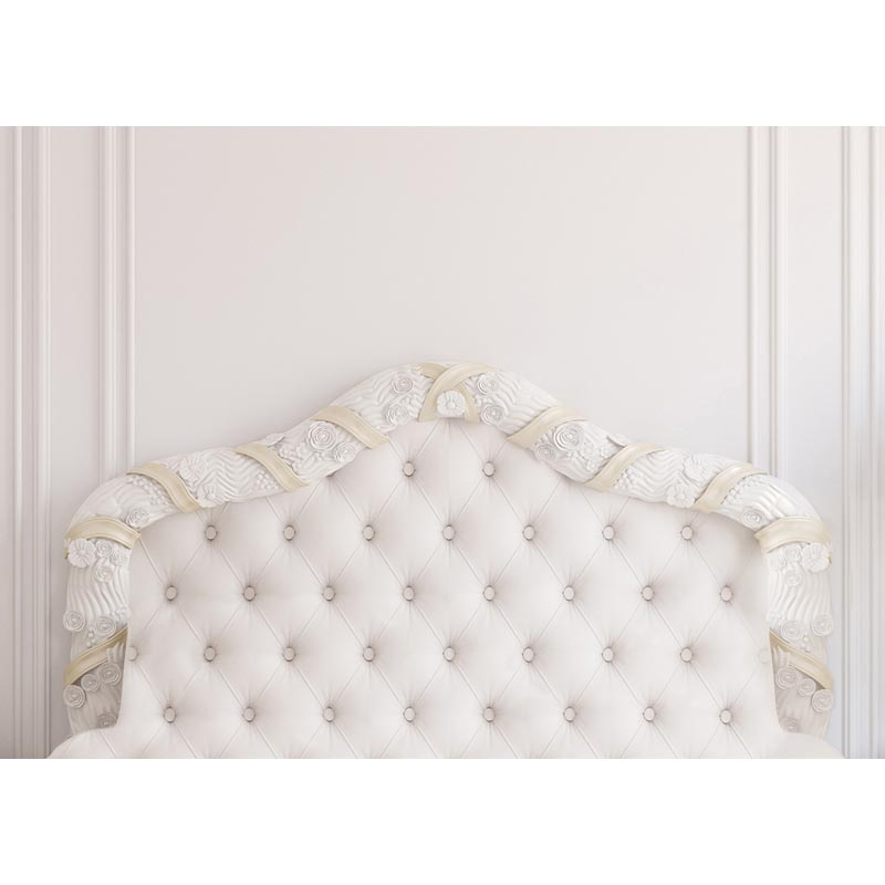 7x5ft Baroque Bed Headboard Tufted Bed Photography Backdrop Thin Vinyl Photo Studio Background Wallpaper F-2515