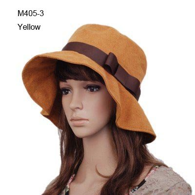 Retail PRETTY Fashion Women Bucket Hats Fedoras Felt Caps Floppy Wide Brim  Top Hat Designer Cloche Ladies Girls Dress Hats Caps e27cf552515