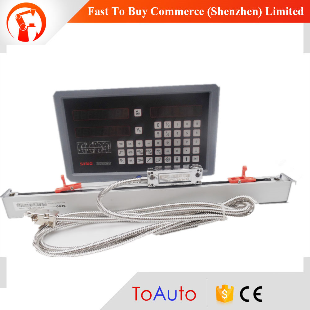 цена на High Precision Sino 2 axis DRO kit DRO Digital Readout & Linear Scale KA300 720mm*320mm for Lathe Milling Machine