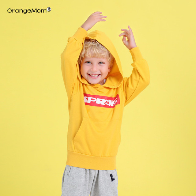Orangemom Offical Store Spring Autumn Cartoon Fashion Clothes Long Sleeve Brand Boy Hoodies Children Girl Clothing Print Cartoon