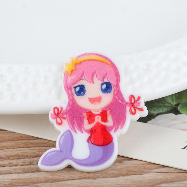 Kawaii De Bande Dessinee Petite Sirene Fille Figurine Decoration Dos