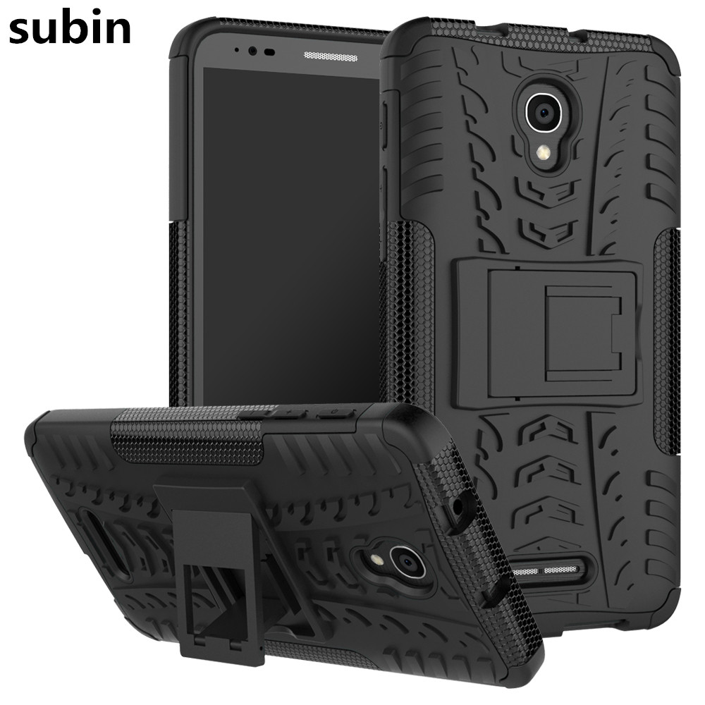 <font><b>Alcatel</b></font> Pop 4+ 5056 TPU & PC Dual Armor with Stand Hard Silicone Cover For <font><b>Alcatel</b></font> One Touch POP 4 Plus <font><b>5056D</b></font> Phone Case image