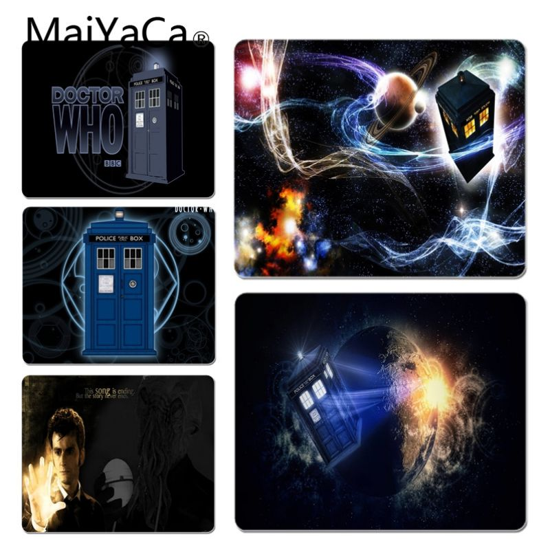 MaiYaCa Simple Design Doctor Who, Tardis Customized laptop Gaming mouse pad Size for 180*220 200*250 250*290 Hot Mouse Pad