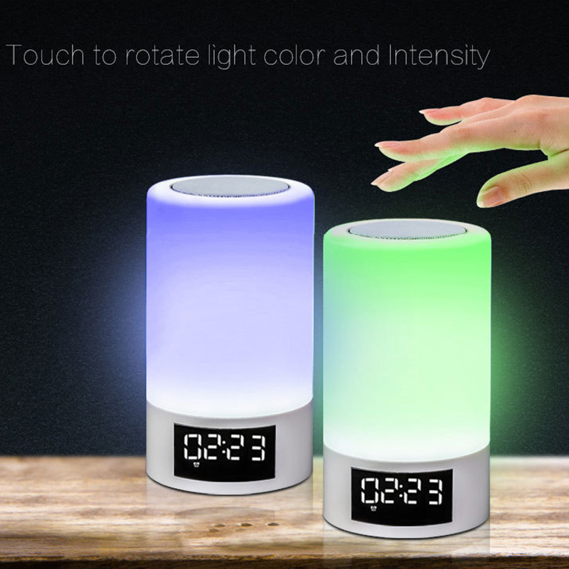 LED Colorful Night Light Touch Bluetooth Audio Smart Home Emotional Atmosphere Speaker Lamp