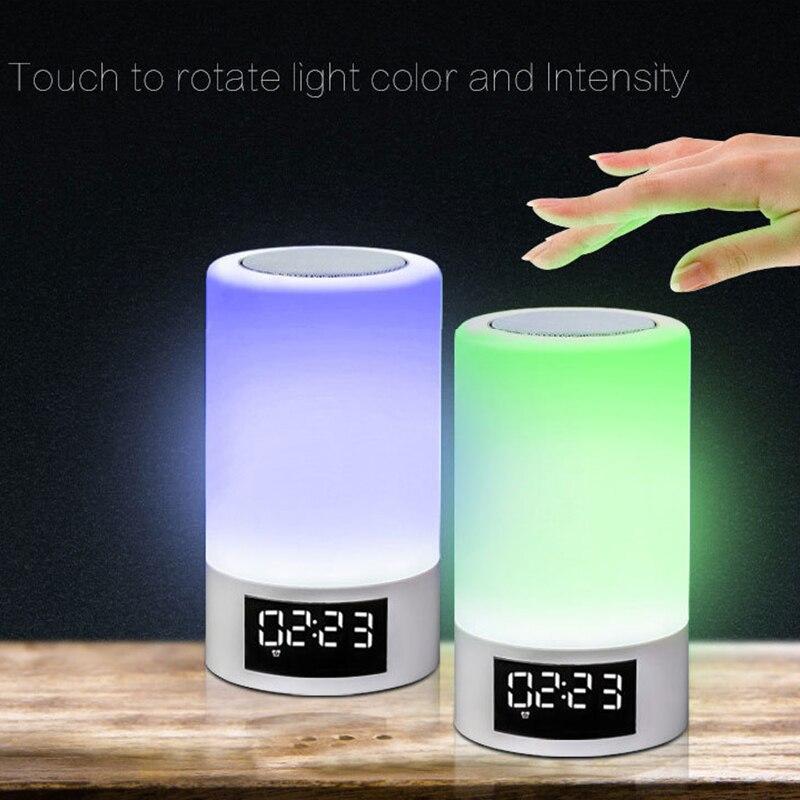 Led colorido luz da noite toque bluetooth de áudio casa inteligente lâmpada alto falante atmosfera emocional