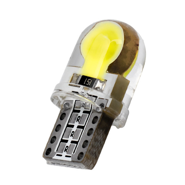 10PCS Auto T10 WY5W W5W LED Bulbs WY5W 168 LED Lamp 501 COB silicone shell Car LED Lights Super Bright Wedge Turn Side Lamp 10X