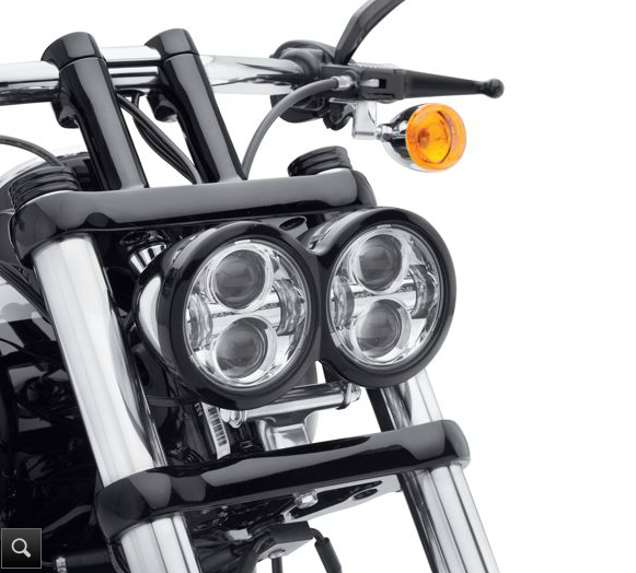 Pair LED Headlight 80W 4 65 Black For Harley Davidson Dyna Glide Fat Bob New