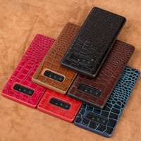 Mobile phone shell crocodile leather back cover skin phone case for Samsung Galaxy note8 Note7 shell all handmade