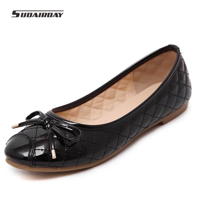 Nuevo 2016 Mujeres Marcas de Moda Borla Arcos de Cuero Genuino Plana Zapatos de Mujer Primavera Zapatos Planos Ocasionales de Las Mujeres Tamaño 35-40