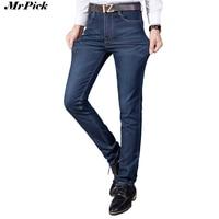 2017 Stretch Mannen Rechte Jeans Casual Mode Klassieke Vintage Mannen Denim Slanke Formele Zakelijke Werk Jeans