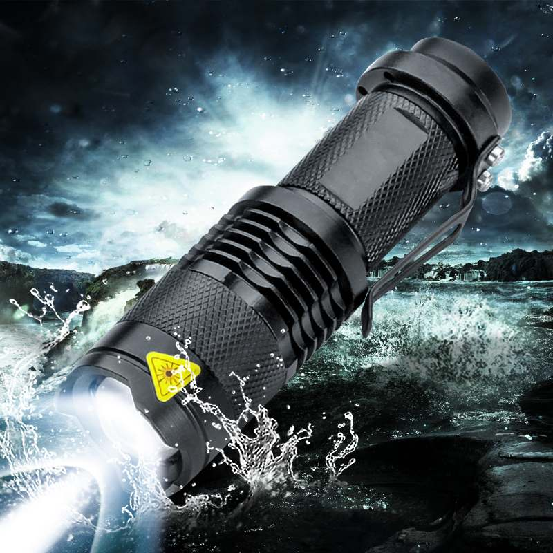 8000LM Q5 LED Flashlight 3 Modes Zoom LED Torch Penlight Flashlight Use 14500 AA Battery Waterproof in Life Lighting Lantern