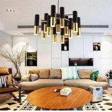 Neue Industrielle Led pendelleuchten für Restaurants Esszimmer Modernen Minimalistischen Gold Anhänger Led Lampe mit 7-19 Lichter 220 V