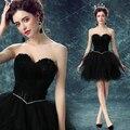 vestido de festa curto Black mesh sweetheart feather short nightclub stage performances Annual dinner cocktail dresses