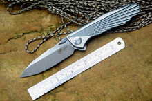 Kevin John Knife Venom WING S35VN or M390 Blade Survival Knife Solid Titanium Handle Fold Knife Camping Tool