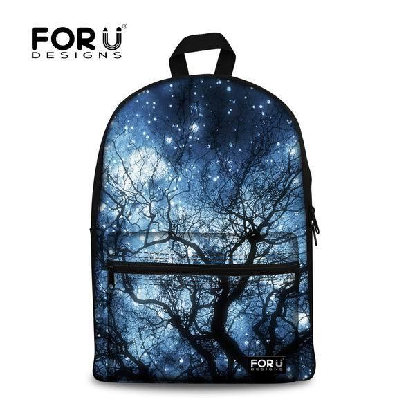 Brand Children Bookbag Women Printing Galaxy Backpack Student School Bag  Girls Casual Canvas Travel Bagpack Mochila infantil