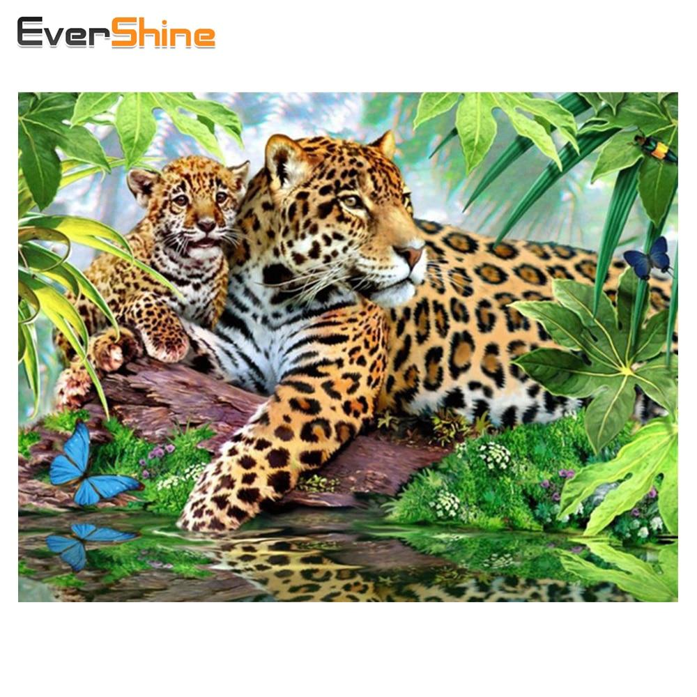 EverShine 5D Diy יהלומי ציור בעלי החיים רקמת יהלומי פסיפס צלב סטיץ ריינסטון מחט אומנויות & אמנות קיר תפאורה