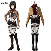 Angriff auf Titan Cosplay Mikasa Ackerman Kleidung Anime Shingeki keine Kyojin Training Corps Schlacht Uniform Halloween Erwachsene