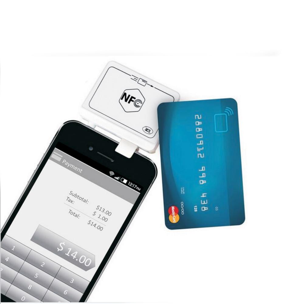 Free Shipping ACR35 NFC MobileMate Card Reader Untuk Ponsel Algoritma Dan DUKPT Kunci Sistem +English SDK