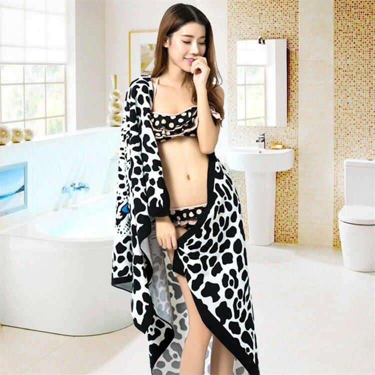 Fashion Lady High Quality Microfiber Fabric Leopard Bath Towel Beach Towel ,100x180cm Toalla Playa,