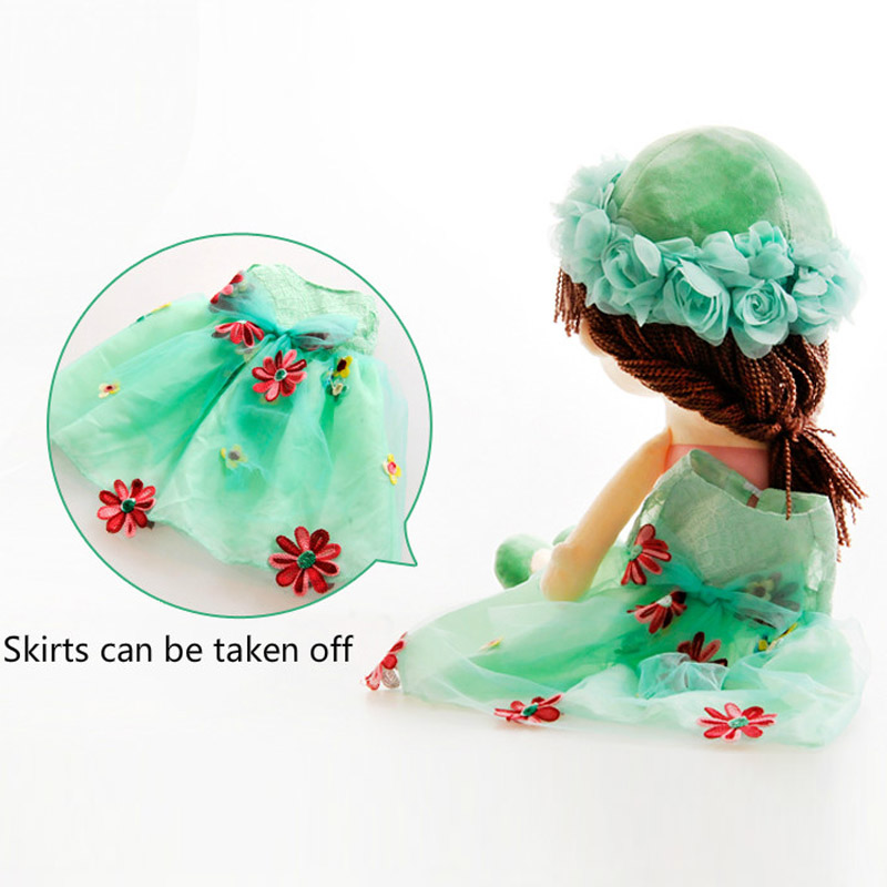 RYRY 35cm 5Colors Stuffed Angela Plush Doll Girl with Lace Embroidered skirt Fashion Popular Girl Toys for 1-3 years Girls