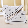 Japanese Hi-Top Style Anime My Neighbor Totoro Cat Graffiti Shoes for Boys Girls women flats Student Hand Painted Canvas Shoes