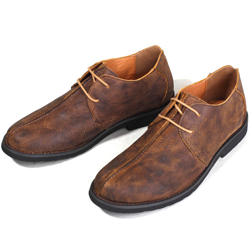 Hommes En Kaki Dentelle Mocassin Véritable Chaussures Cuir Robe Mâle Vintage Mocassins Smart Homme up Rétro Casual De Plat Business wqBSIq4U