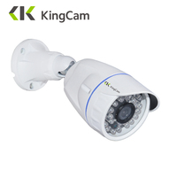 KingCam FHD 720P POE Zinc Alloy Metal Anti Vandal Outdoor IP Camera IP66 With ONVIF Bullet
