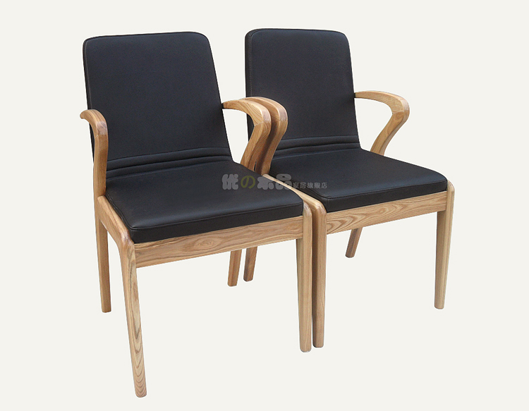 simple wooden arm chair. korean simple wood dining tables and chairs ash armchair grade soft cushion office chair solid wooden arm n