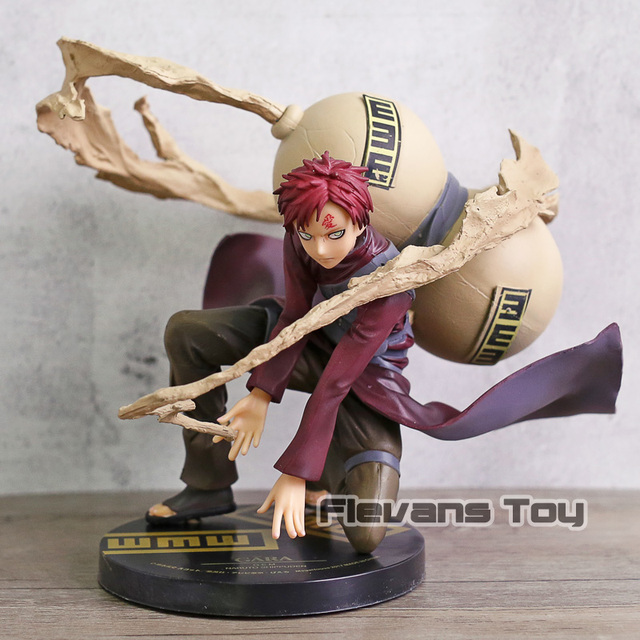 Anime Naruto Shippuden Sand Hidden Village Gaara 5Th Generation Kazekage GEM PVC Action Figure Collectible Model Toy