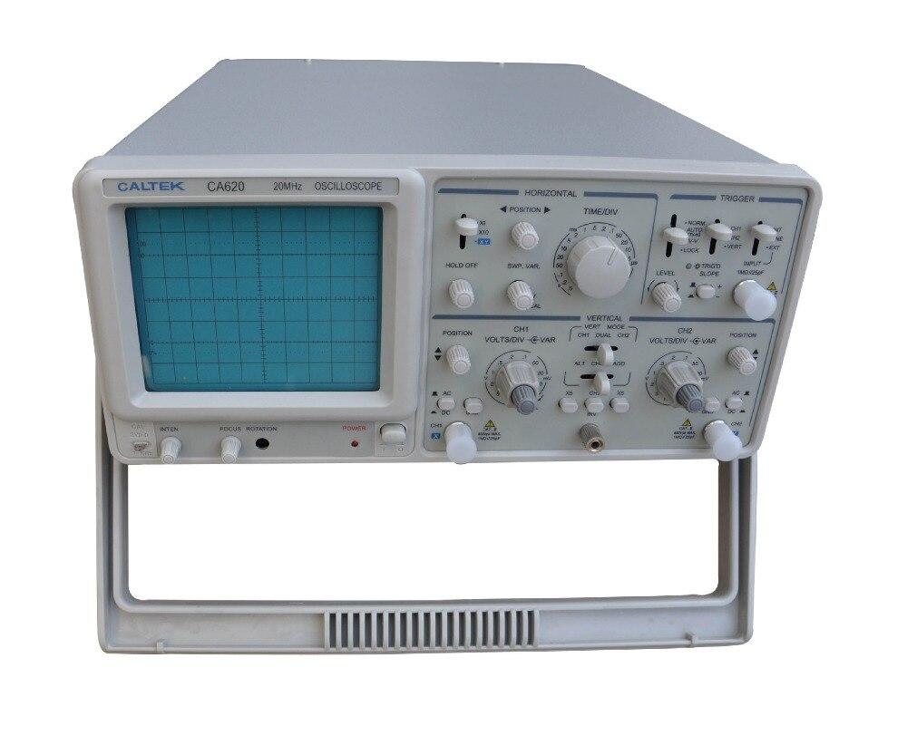 Rapide arrivée Caltek CA620N double-canal analogique oscilloscope double trace oscilloscope 20 MHz