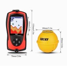 LUCKY FF1108-1CWLA 2-in-1 Wireless Fish Finder With LCD Sonar Transducer Depth Locator Ocean Boat Alarm Fish Detector De Pesca