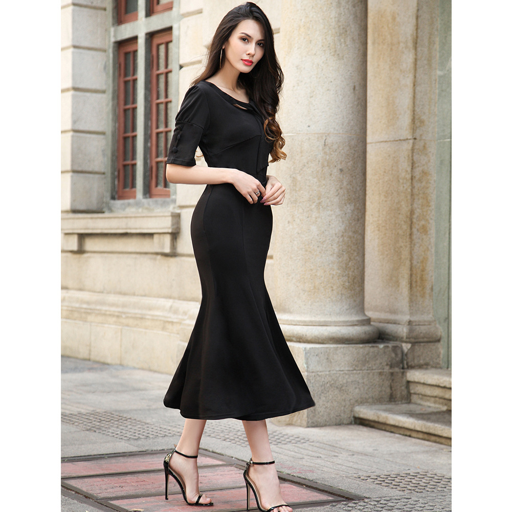 47f437806f6 Detail Feedback Questions about Menbone hot sale 2018 short sleeve women  dress sexy elegant casual all match female dresses summer spring fishtail  dress on ...