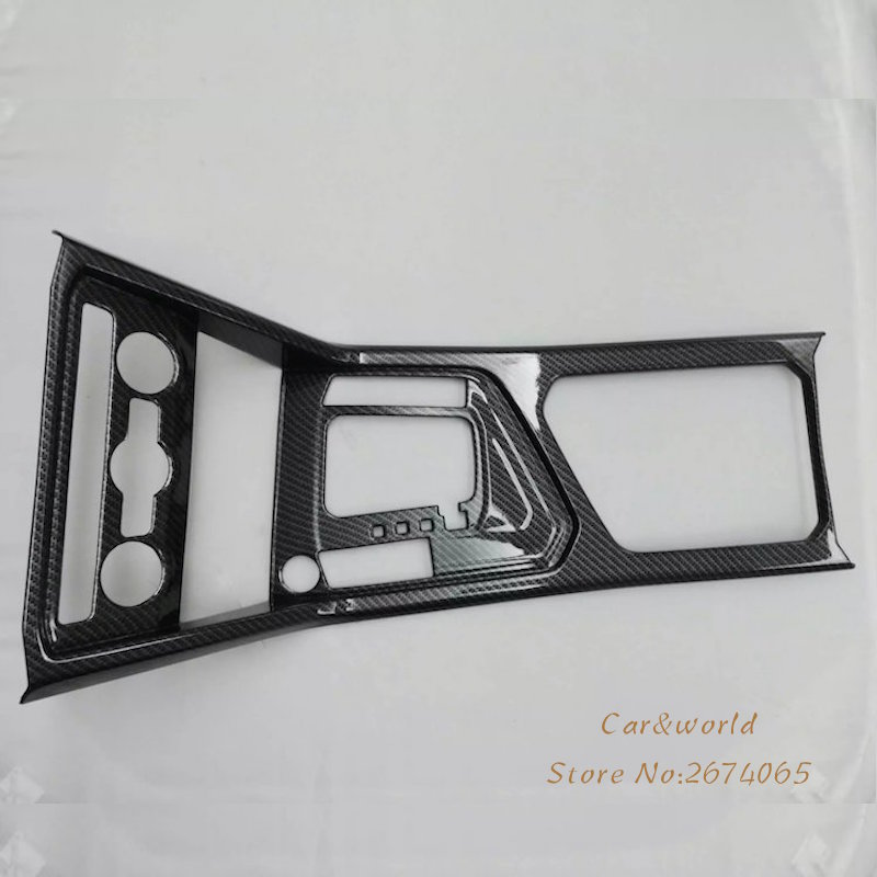 For VW Tiguan L 2017 Overall Gear Box Panel Cover Trim Control frame Decoration Volkswagen ABS Chrome Car-Styling Accessories car abs chrome interior inside inner door window glass switch panel cover trim frame molding 4pcs for vw tiguan l mk2 2016 2018